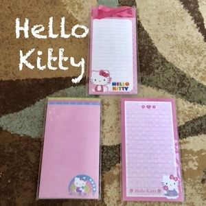 NIP Hello Kitty 3 magnetic memo pads